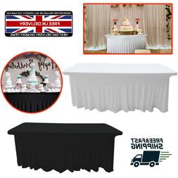 1.8m Table Tissu Rectangle Jupe Style Spandex 190GSM pour Ma