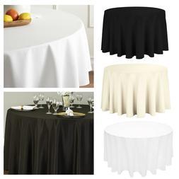 335cm Rond Uni Table Tissu Polyester Housse Pour Mariage Dî