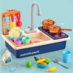 Evier Lave Vaisselle Electrique Simulation Enfant Plastique