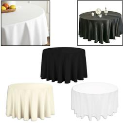 Lin Rond Uni Table Housse Tissu 274cm Coton Mariage Dîner V