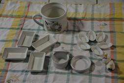 Lot vaisselle faience blanche
