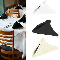 Polyester Coton Serviette Table Tissu Lin Mariage Vaisselle