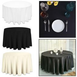 Rond Uni Table Housse Tissu Coton Mariage Dîner Vaisselle L