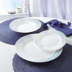 Luminarc Tableware 18piezas Melia, White and blue, 4 5/8in,