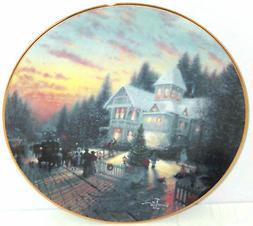 Thomas Kinkade Collectionneur Plaque Magique Noël Maison Fe