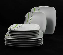 Vaisselle de Table Ensemble Carré Service Salle à Manger 2